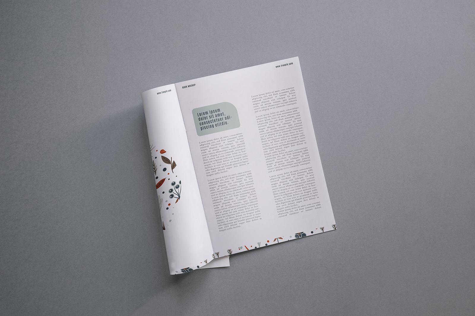 Modern Magazine Mockup Free PSD