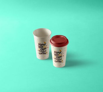 Paper Hot Cup Mockup PSD Template