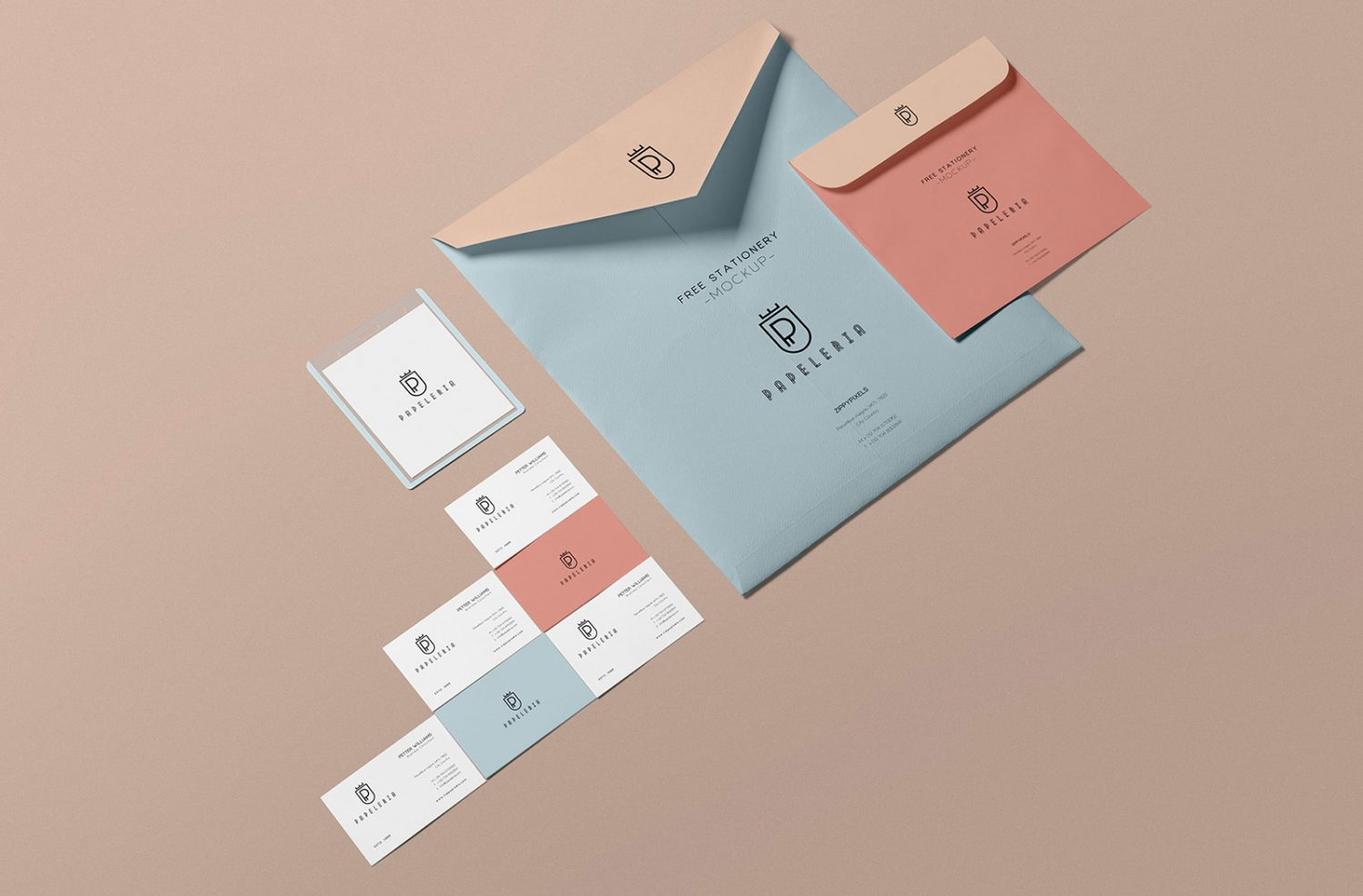 Free Envelope Stationery Mockup PSD