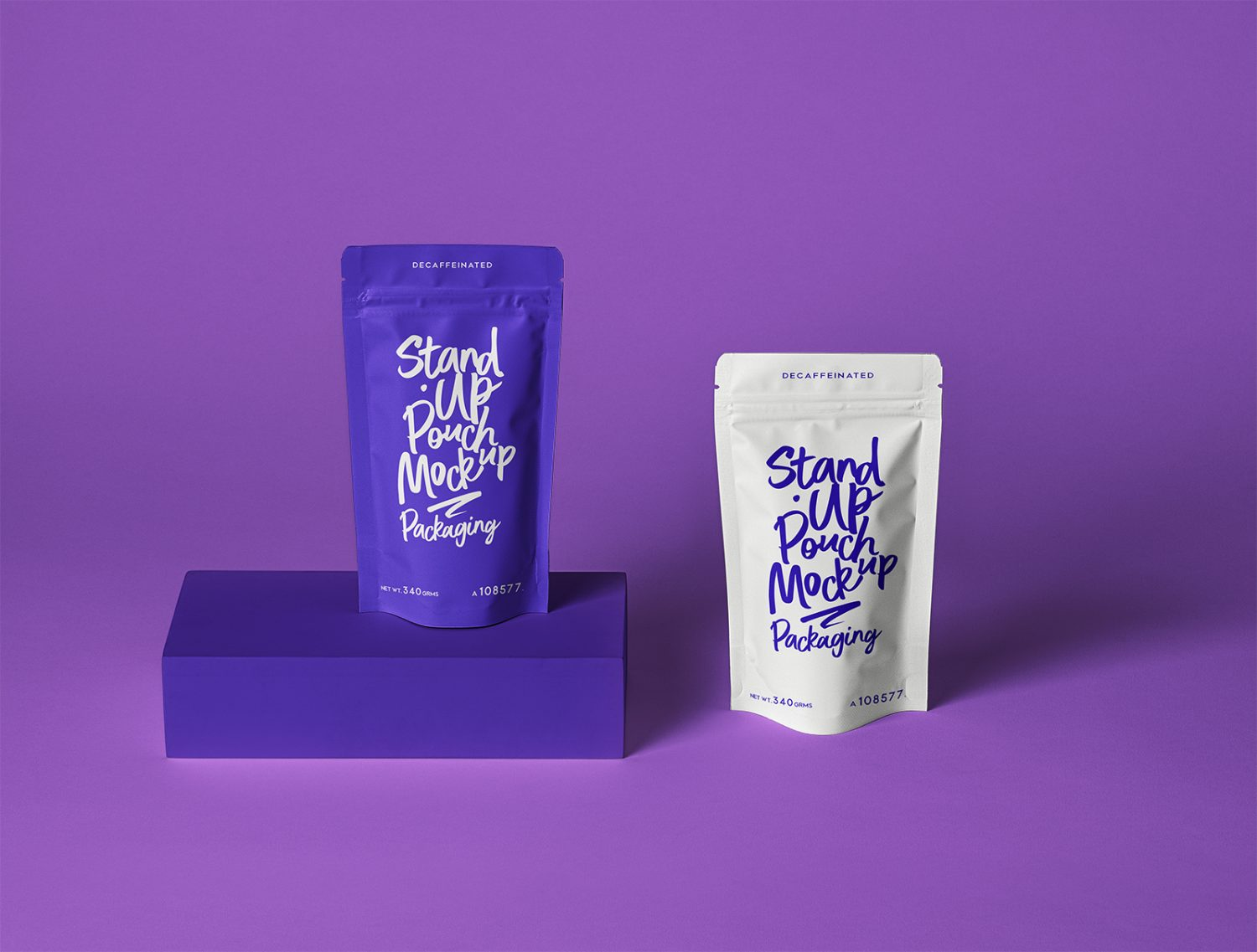 Stand Up Pouch Packaging Mockup