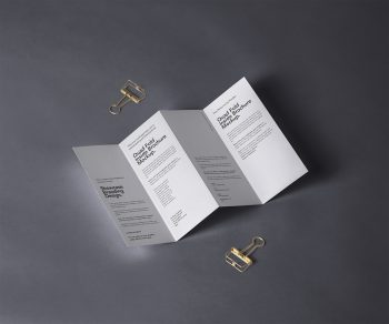 4 Fold Panel Brochure PSD Mockup