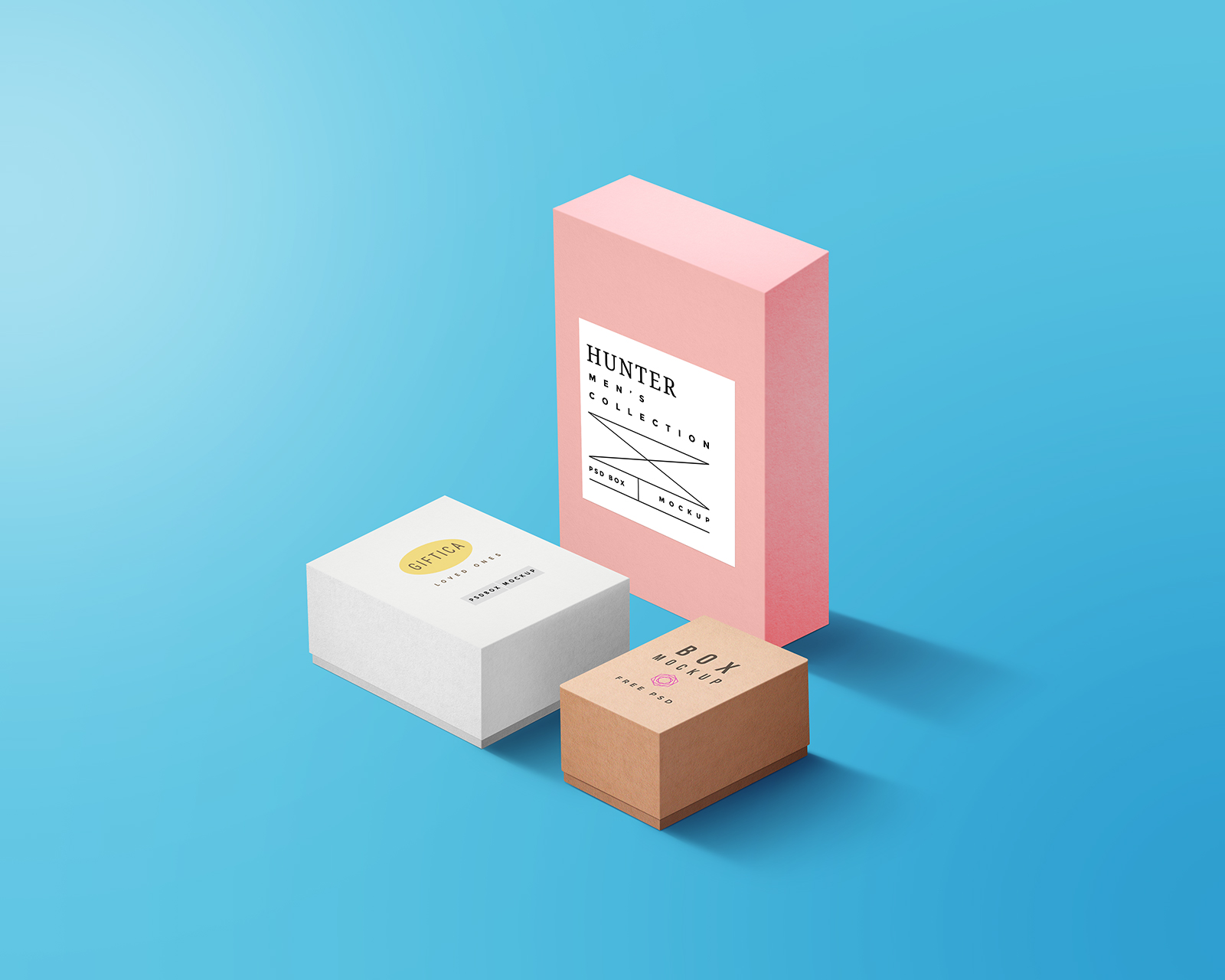 Boxes Packaging Mockup PSD