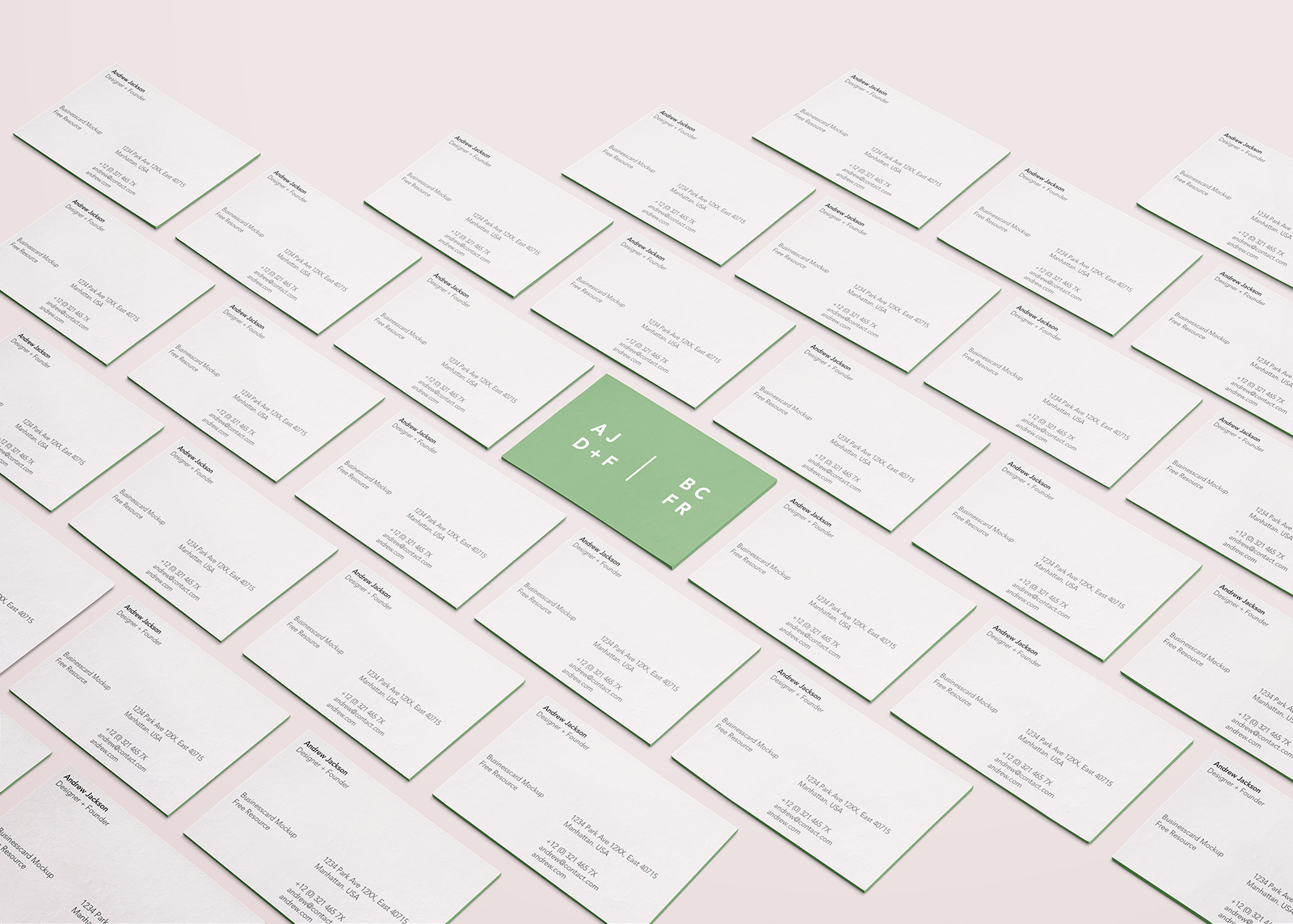 PSD Business Card Mockup
