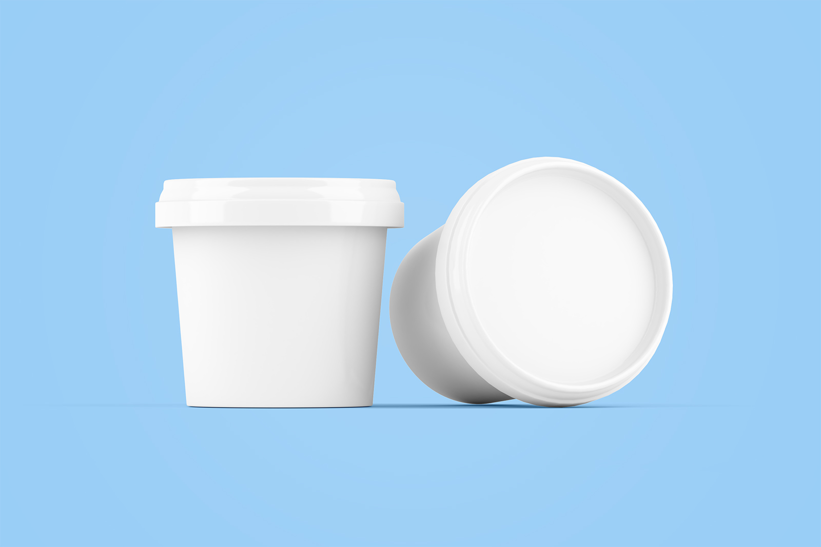 Free Ice Cream Jar Packaging Mockup