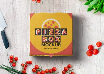 Pizza Box Mockup Packaging