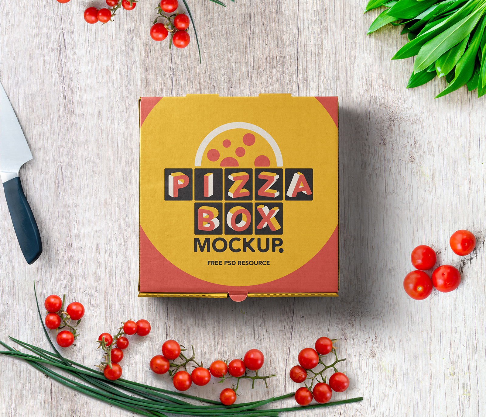 Pizza Box Mockup Packaging