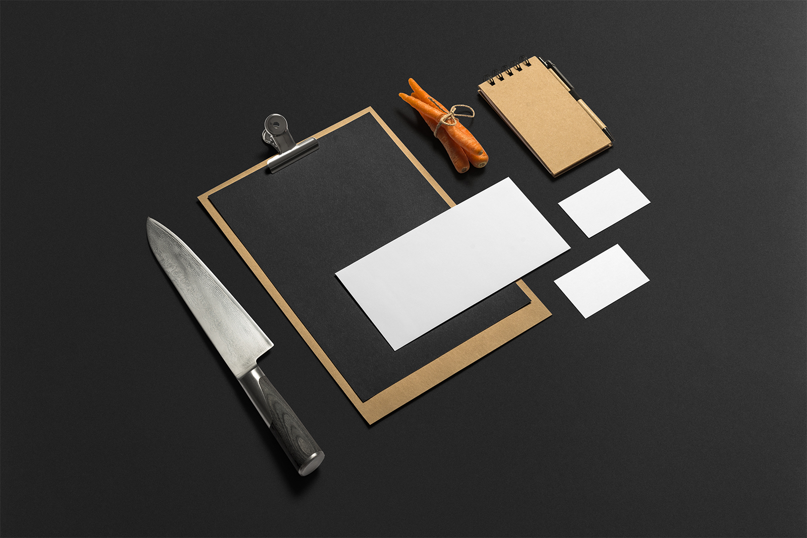 Restaurant and Bar Branding Stationery Mockups