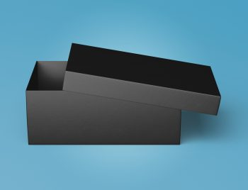 Shoe Box Package Mockup