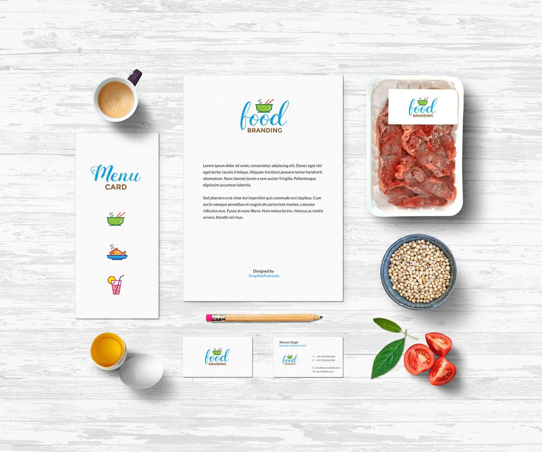 Food Branding Mockup PSD