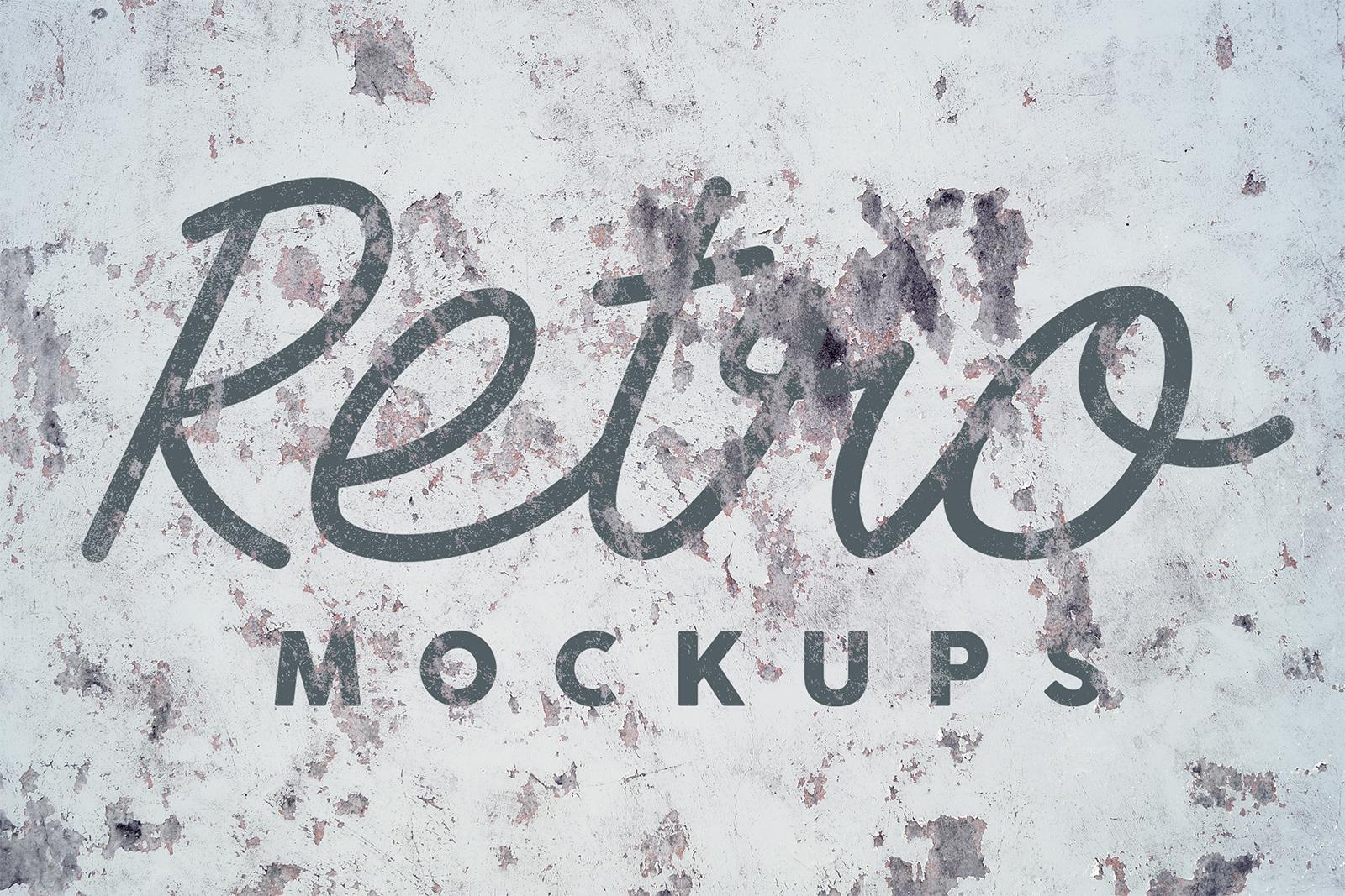 Grunge Wall Retro Mockups