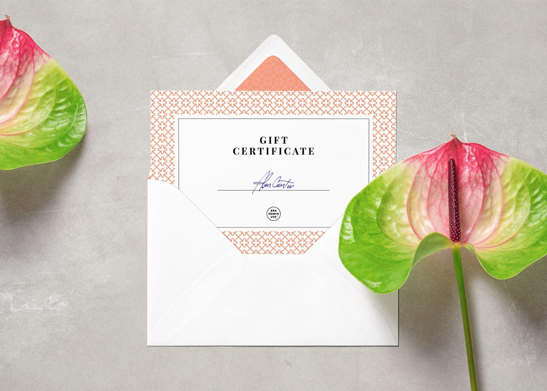Card & Envelope PSD Mockup
