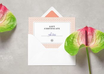 Card & Envelope PSD Mockup