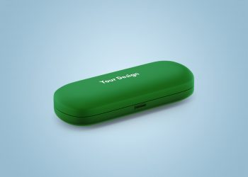 Glasses Case Mockup Free Set