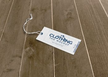 Free Clothing Tag Mockup PSD