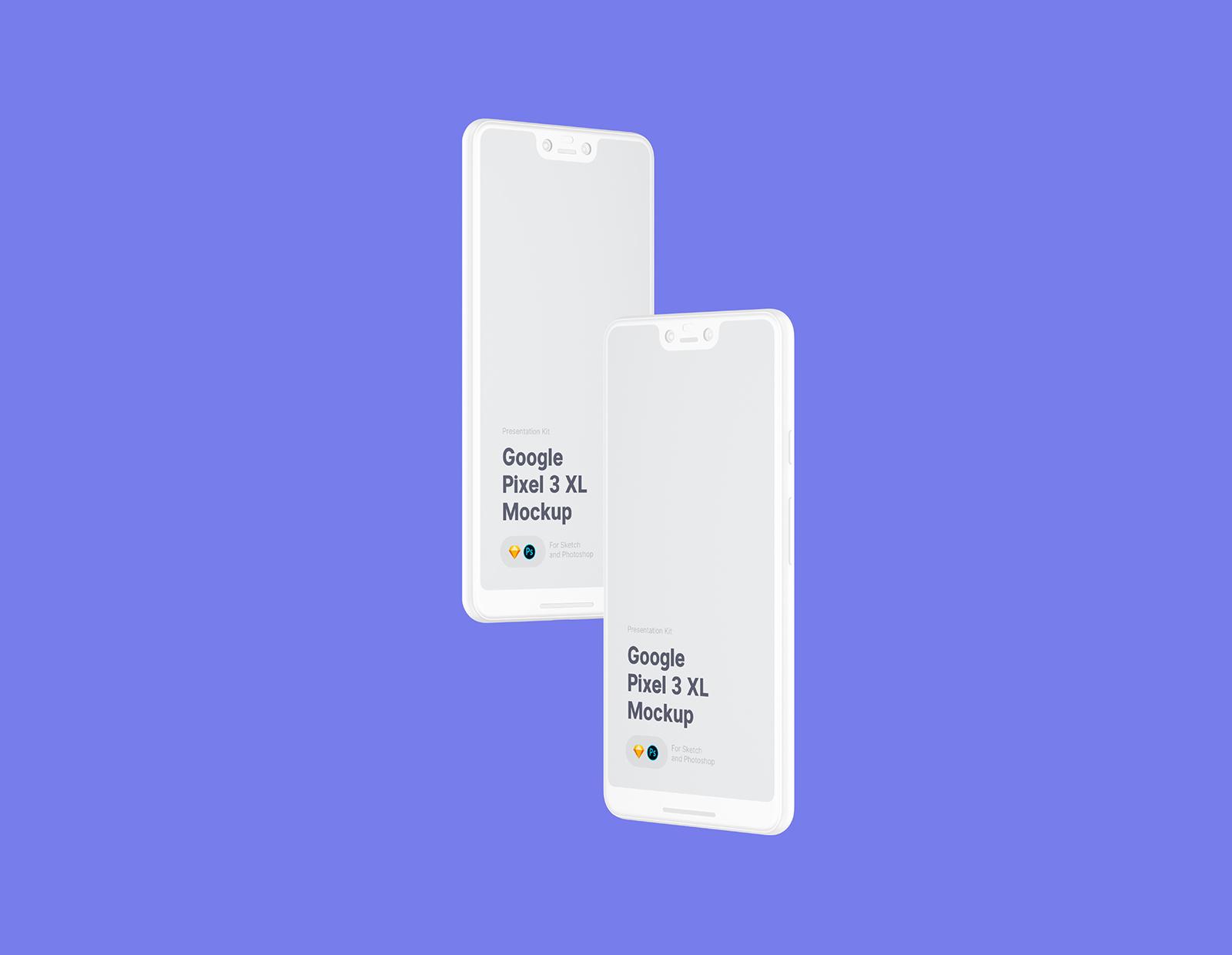 Free Google Pixel 3 XL Mockup