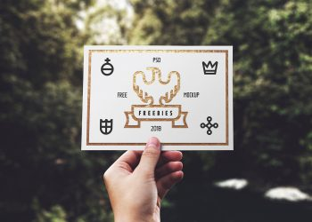 Greeting Card Free Mockup