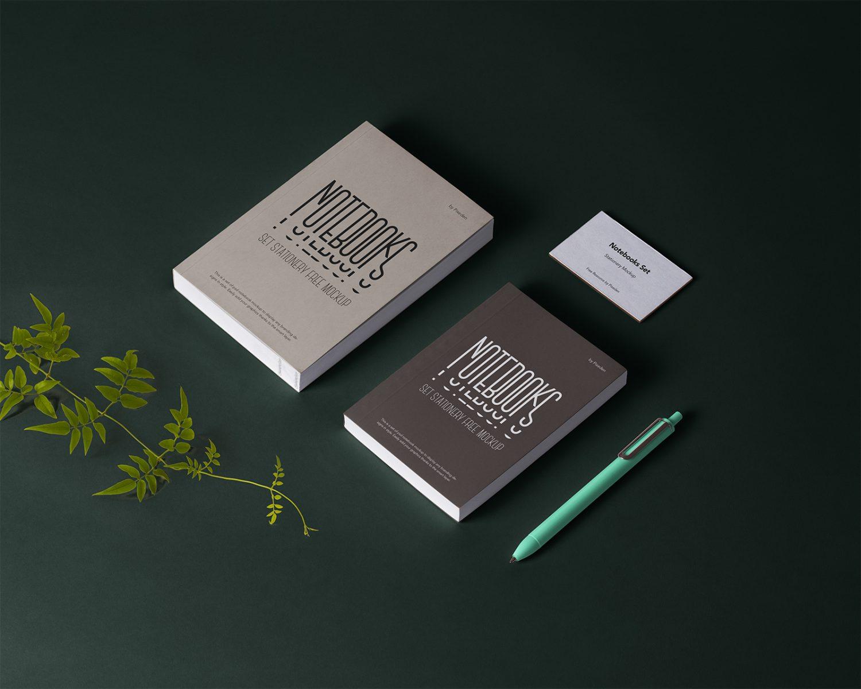 Notebook Stationery Mockup