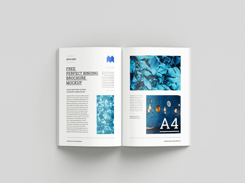 Free Binding Brochure Mockup