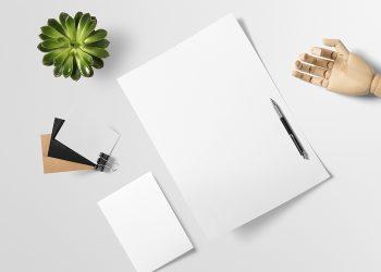 Free Brand Paper Stationery Mockup