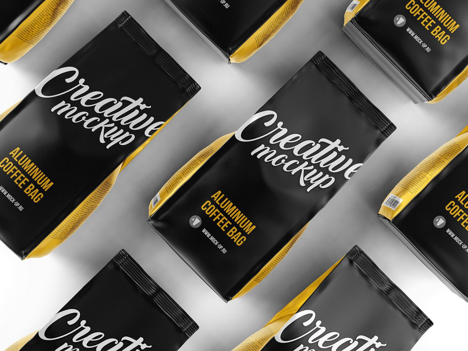 Coffee Pouch Packaging Free Mockup