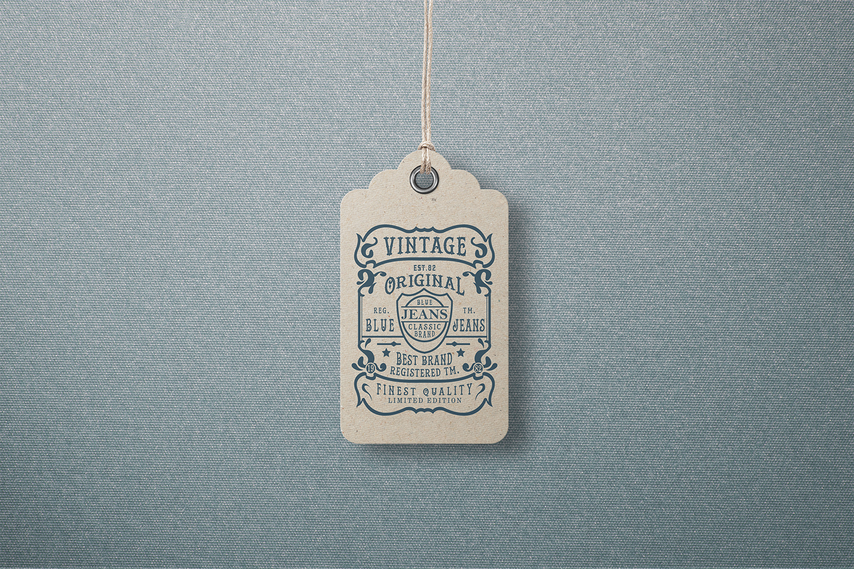 Garment Label Tag Mockup Set