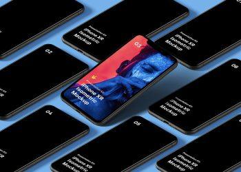 Isometric iPhone 11 Pro Free Mockup