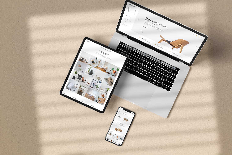 Apple Multi-Device Free Mockup Top View