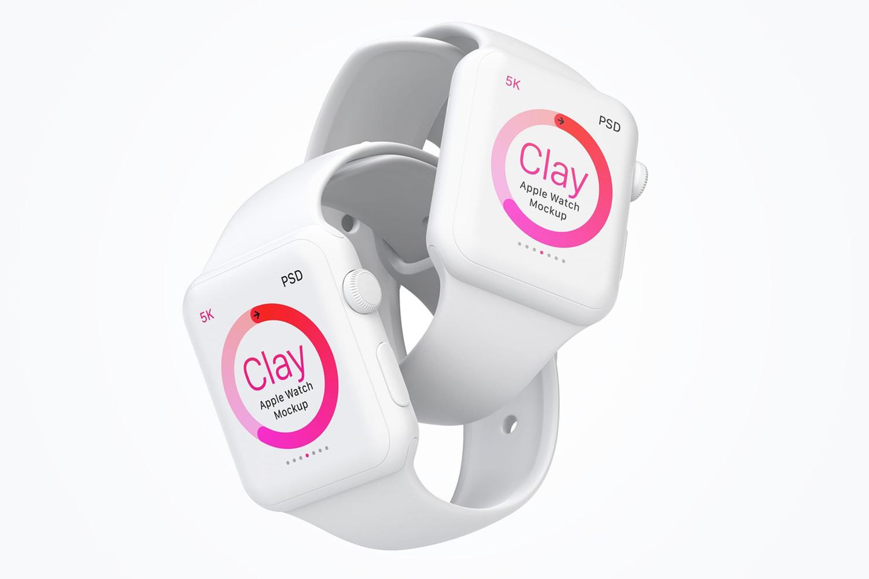 PSD Clay Apple Watch Mockup