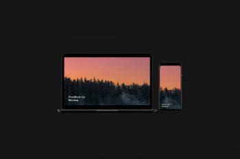 Pixel 4 XL and PixelBook Go Free Mockup