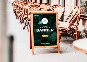 A-Stand Banner Free Mockup