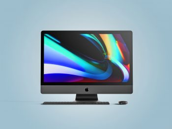 Apple iMac Pro Front View Free Mockup