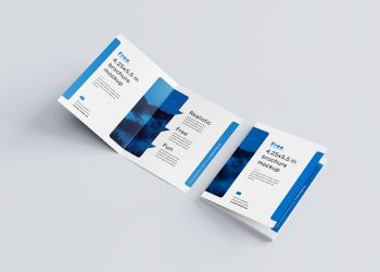Bi-Fold Brochure Free Mockup