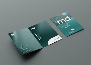 Branding Presentation Folder Free Mockup