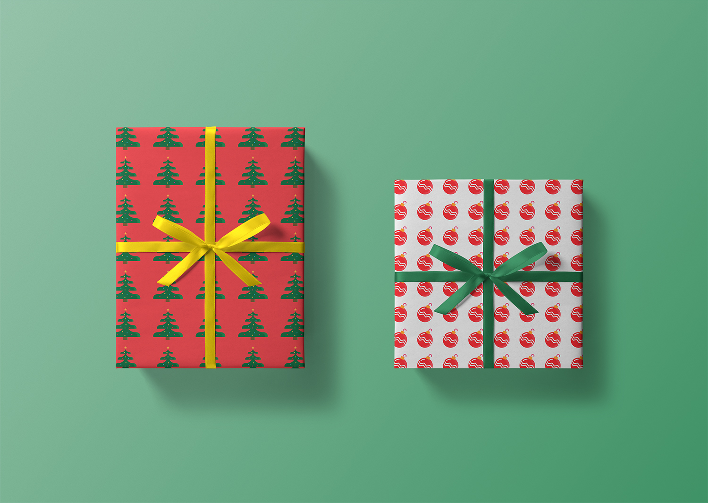 Christmas Box Free Mockup