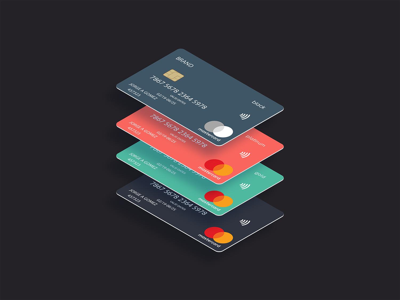 Contactless Credit Card Design Free Mockup