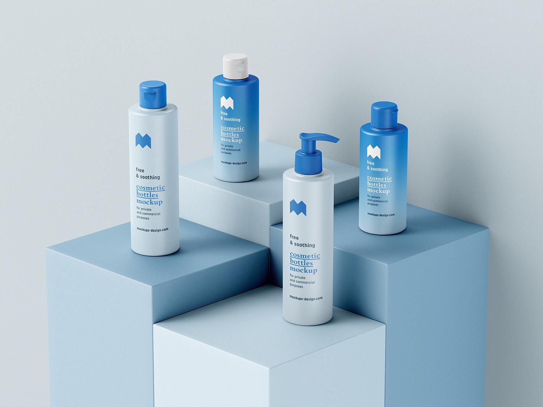 Cosmetic Bottles Free Mockup