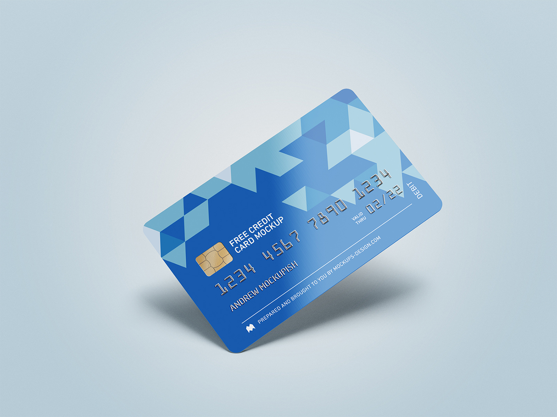 Credit Card Free Mockup PSD