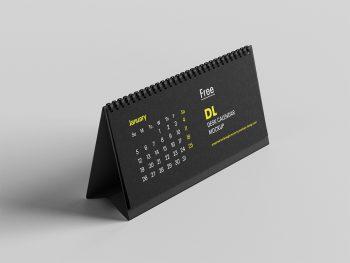 DL Desktop Calendar Free Mockup