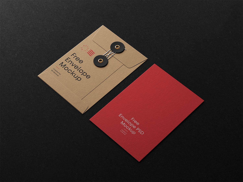 Envelope with String Free Mockups