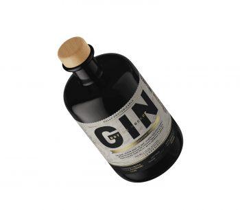 Gin Bottle PSD Free Mockup Free Sample