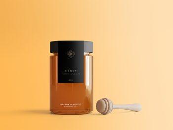 Honey Jar Package Free Mockup