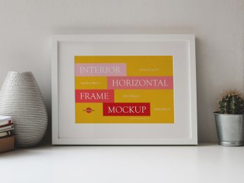 Interior Horizontal Frame Free Mockup