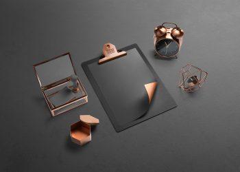 Isometric Branding Free Mockup Scene
