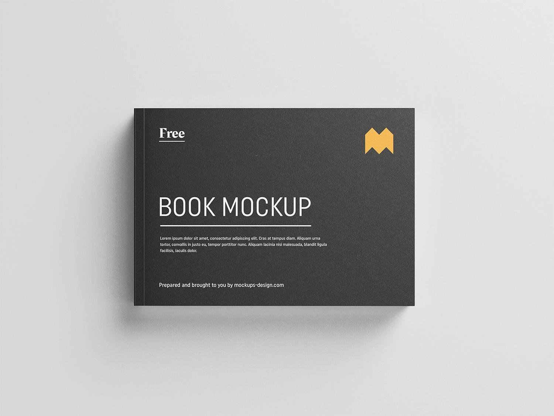 Landscape Book Free Mockup