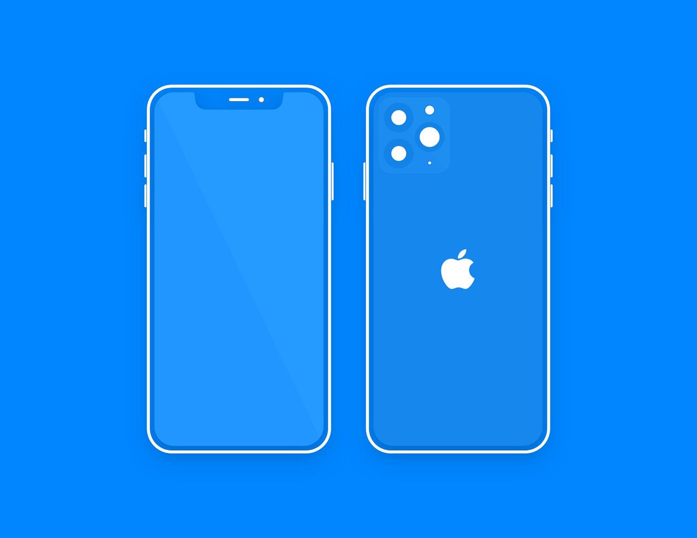 Minimal iPhone 11 Pro Sketch Free Mockup