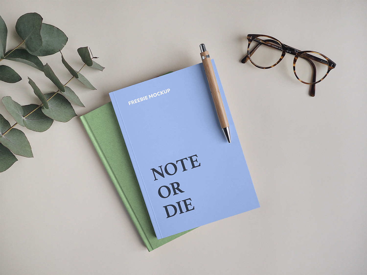 Notebook with Pen Free Mockup