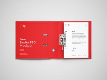 Open Binder Brand Folder with Letterhead Free Mockup