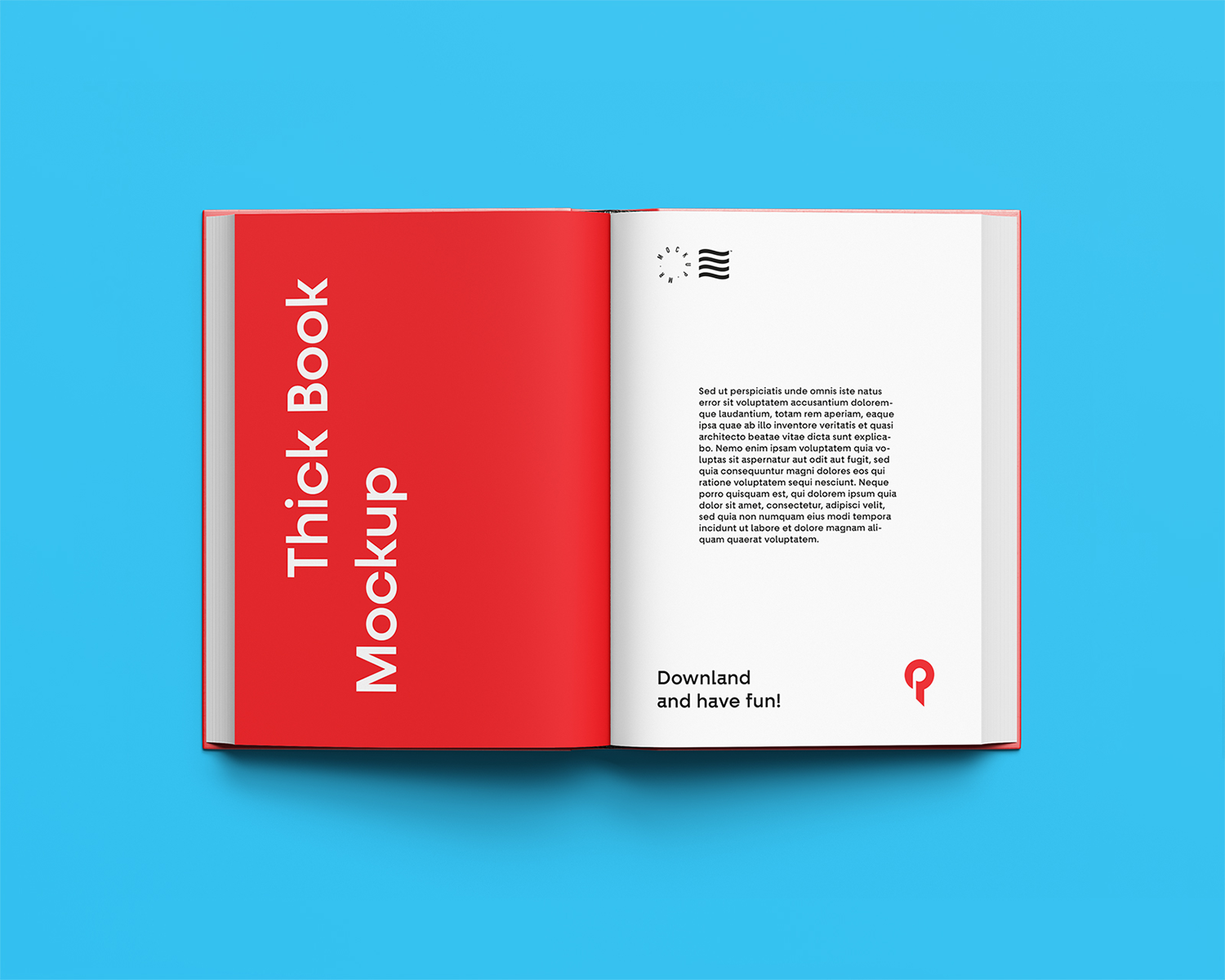 Open Book Free Mockup Top View