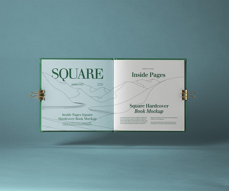 Open Square PSD Catalog Free Mockup