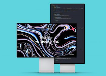 PSD Apple Pro Display XDR Mockup